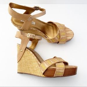 Platform wedge sandals by Cynthia Vincent